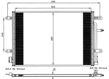 AUDI A4 {A4 03-} КОНДЕНСАТОР КОНДИЦ (NISSENS) (AVA) (см.каталог)