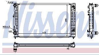 AUDI A4 {A6 97-/PASSAT 96-} РАДИАТОР ОХЛАЖДЕН (см.каталог)