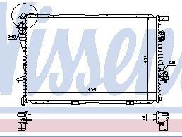 E38 {E39 95-99} РАДИАТОР ОХЛАЖДЕН (NISSENS) (NRF) (GERI) (см.каталог)