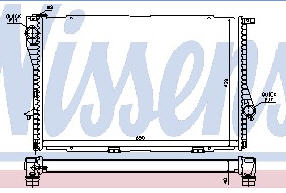 E38 {E39 98-} РАДИАТОР ОХЛАЖДЕН (NISSENS) (NRF) (GERI) (см.каталог)