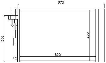 E60 {E63 04-/E65 01-} КОНДЕНСАТОР КОНДИЦ (NISSENS) (AVA) (см.каталог)