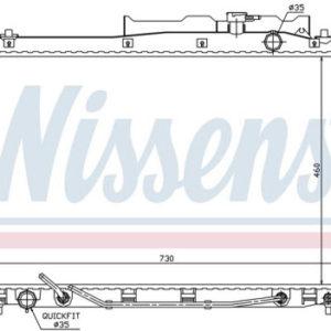 IX55 РАДИАТОР ОХЛАЖДЕН 3 (дизель) (NISSENS) (см.каталог)