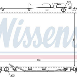 IX55 РАДИАТОР ОХЛАЖДЕН 3.8 (бензин) (NISSENS) (см.каталог)