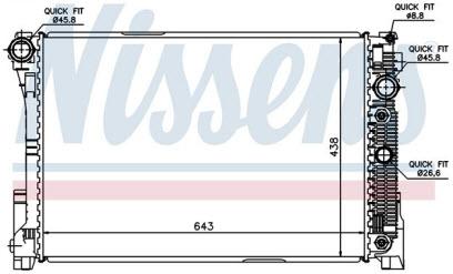 W204 {W212 09-/GLK 08-/W218 CLS 10-} РАДИАТОР ОХЛАЖДЕН (см.каталог) (NISSENS)