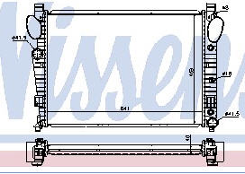W220 {+ W215 00-} РАДИАТОР ОХЛАЖДЕН (NISSENS) (AVA) (см.каталог)