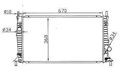 3 {+ FD FOCUS 05- / C-MAX 03-/ VV S40 04-} РАДИАТОР ОХЛАЖДЕН 1.3 1.6 2