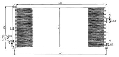 ALMERA {+ P12 02-} КОНДЕНСАТОР КОНДИЦ (NRF) (GERI) (NISSENS) (см.каталог)