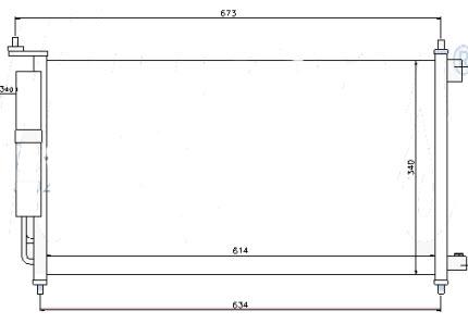 MICRA {NOTE 06-/ TIIDA 07-/JUKE 11-/SENTRA 14-} КОНДЕНСАТОР КОНДИЦ С ОСУШИТ. (см.каталог)