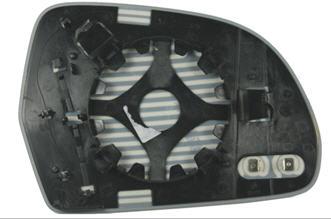 OCTAVIA {SUPER B 08-/ A3 09-/ A5 07-/ A6 09-/ A8 08-} СТЕКЛО ЗЕРКАЛА ЛЕВ С ПОДОГРЕВ (aspherical)