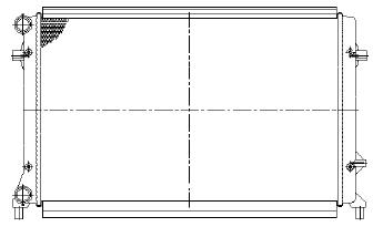 GOLF {+ AU A3 03-/ SD OCTAVIA 04-/PASSAT 05-} РАДИАТОР ОХЛАЖДЕН (NISSENS) (AVA) (см.каталог)