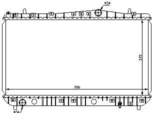 LACETTI {+ DW NUBIRA} РАДИАТОР ОХЛАЖДЕН (NISSENS) (NRF) (GERI) (см.каталог)