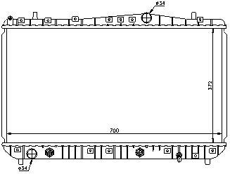 LACETTI {+ DW NUBIRA} РАДИАТОР ОХЛАЖДЕН (NISSENS) (AVA) (см.каталог)